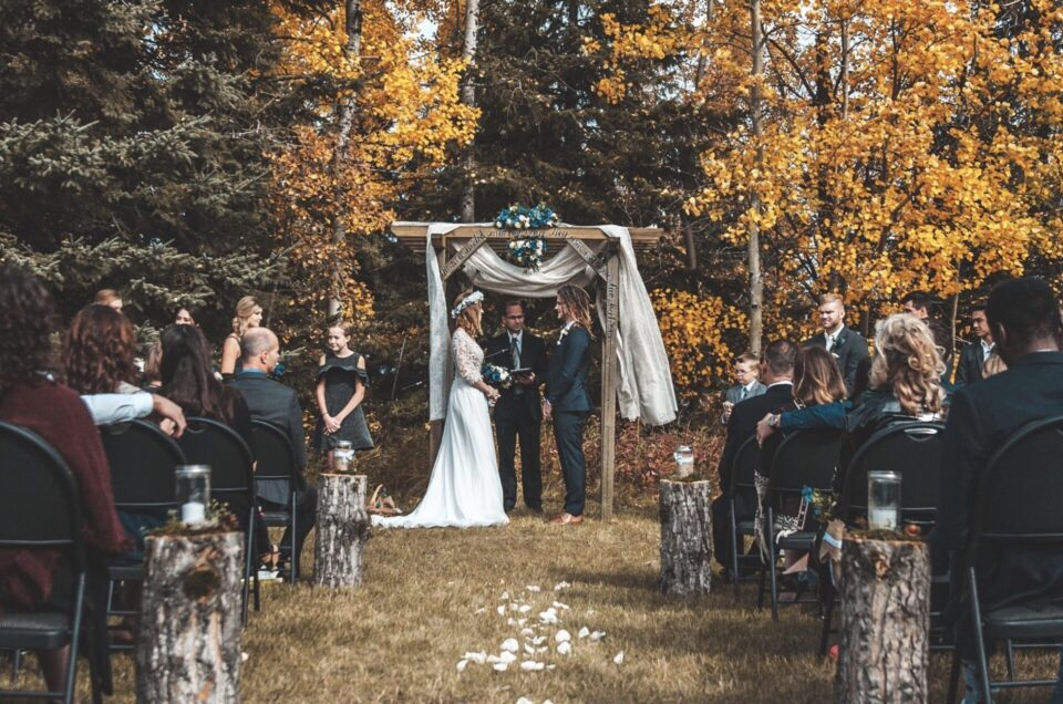 Micro-wedding: any ceremony or wedding reception with less than 50 guests in total.