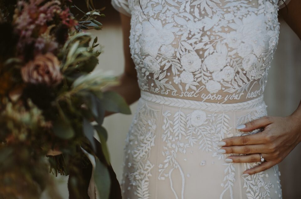 Unique embroidered wedding dresses